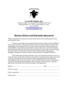 Lewisville Release form